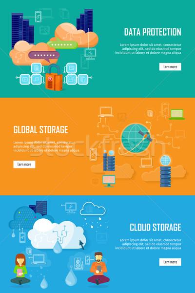 データ保護 グローバル ストレージ 雲 データセキュリティ データ ストックフォト © robuart