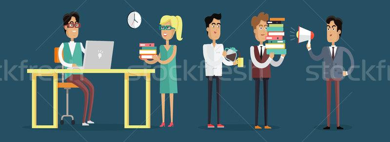 Trabajo oficina ilustración diseno vector estilo Foto stock © robuart