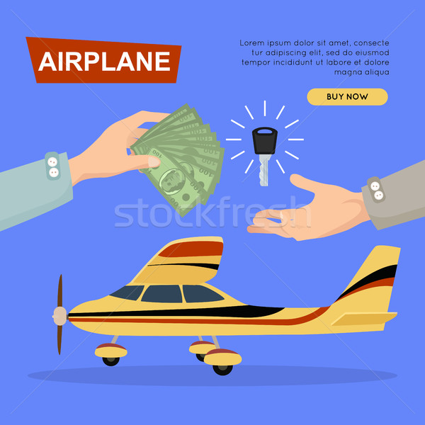 Buying Airplane Online. Plane Sale. Web Banner. Stock photo © robuart