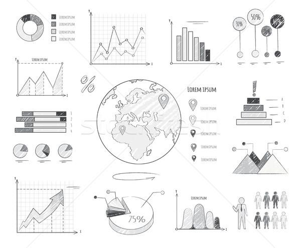 земле население статистика иллюстрация изолированный Сток-фото © robuart