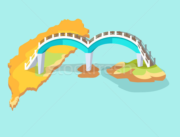 Dragon Arched Bridge in Taiwan Hand Drawn Icon Stock photo © robuart