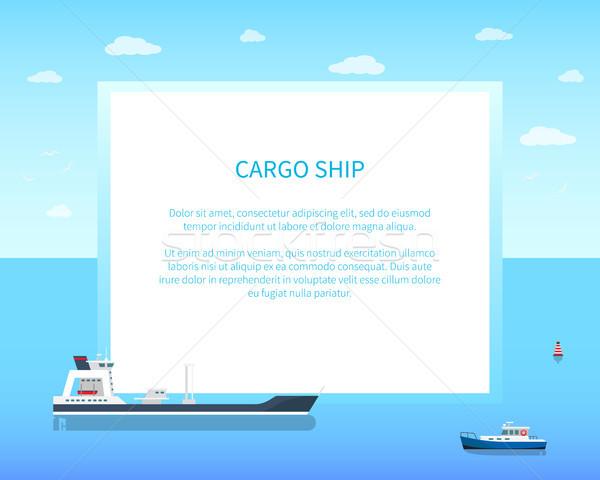 Espaçoso vazio cargueiro superfície da água bandeira Foto stock © robuart