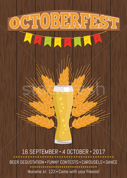 Octoberfest Creative Poster Information Holiday Stock photo © robuart
