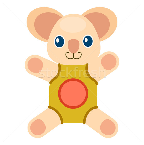 Cute Koala Bear in Beige Rompers Illustration Stock photo © robuart