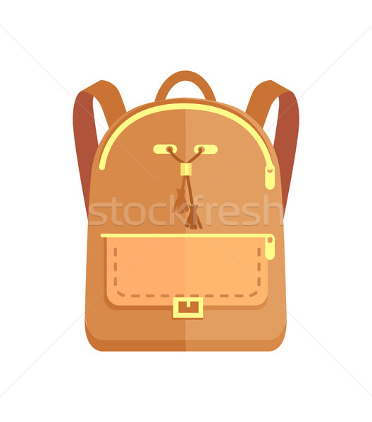 Rucksack Fashionable Model in Beige Color Pocket Stock photo © robuart