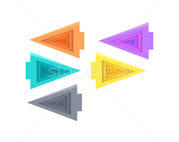 Five Colorful Arrows Vector Illustration on White Stock photo © robuart