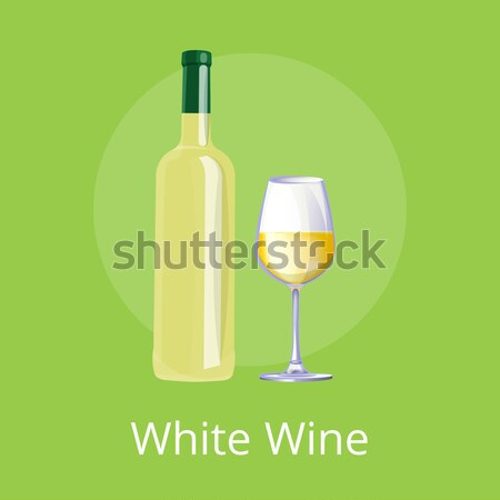 Let s Taste Wine Web Design Vector Illustration Stock photo © robuart