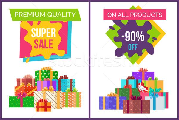 Prémium minőség szuper vásár ajánlat szett Stock fotó © robuart