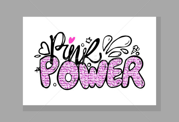 Rózsaszín erő színes graffiti díszített szívek Stock fotó © robuart