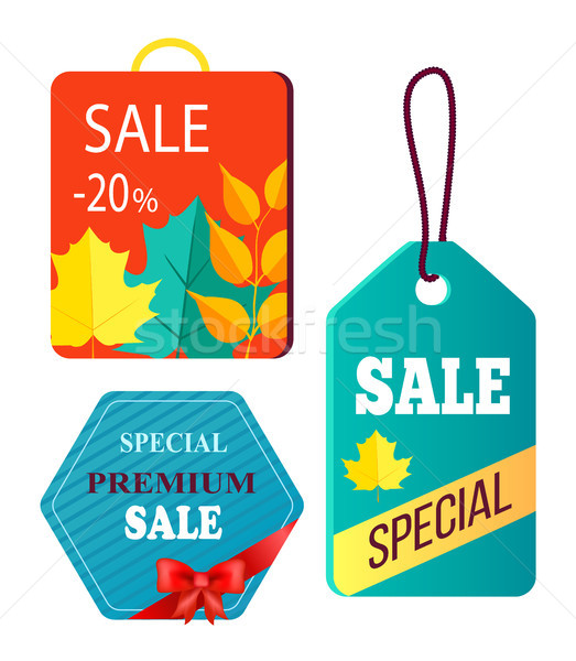 Shopping Bag Design, Hanging Advertisement Tags Stock photo © robuart