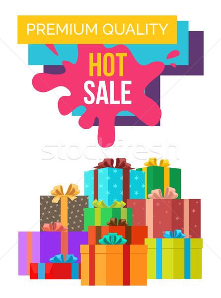 Premia jakości sprzedaży plakat zniżka wartość Zdjęcia stock © robuart