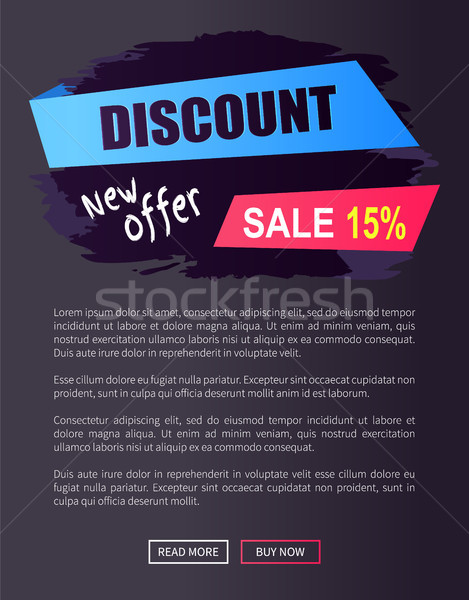 Black Friday New Offer Sale 15 Web Poster Text Stock photo © robuart