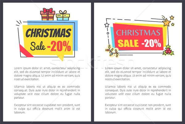 Stock fotó: Karácsony · vásár · 20 · el · bannerek · szöveg