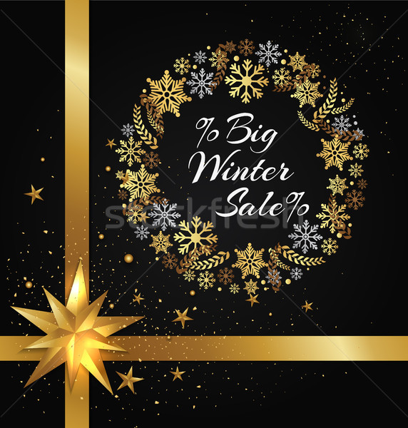 ストックフォト: 冬 · 販売 · ポスター · フレーム · 雪 · ビッグ