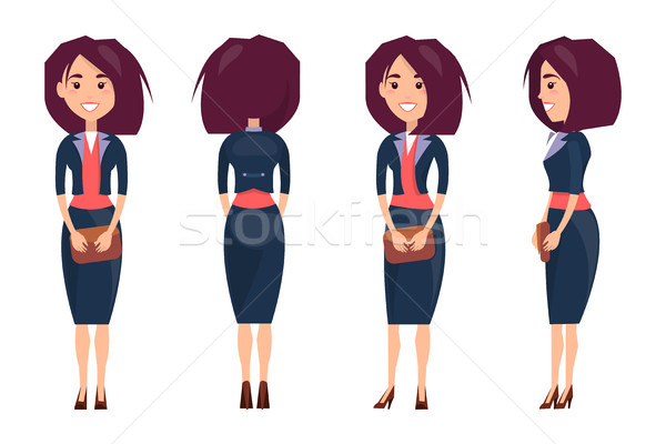Businesswoman in Suit and Stilettoes Holds Purse Stock photo © robuart