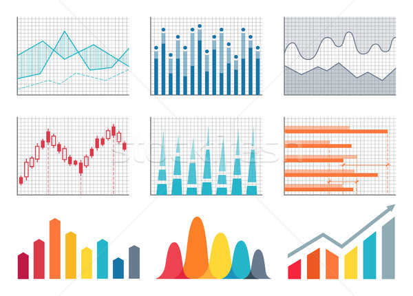 Graphs Colorful Representation Vector Illustration Stock photo © robuart
