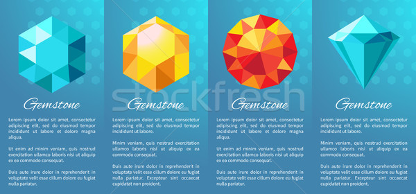 Gemstones Banner Collection on Vector Illustration Stock photo © robuart