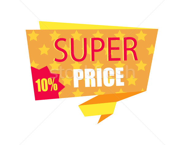 Super prezzo dieci cento carta arancione Foto d'archivio © robuart