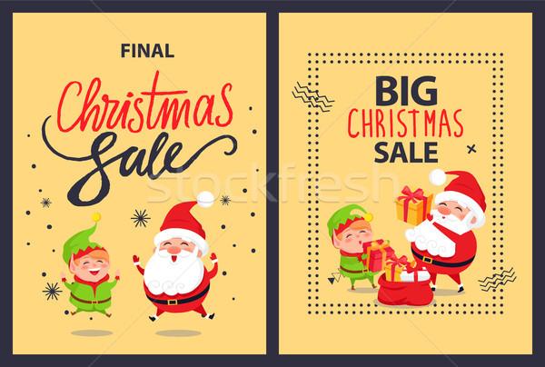 Grand vente finale Noël affiches Photo stock © robuart