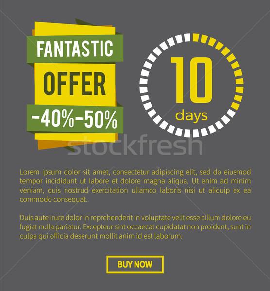 Fantastyczny oferta 40 strona 50 w górę Zdjęcia stock © robuart