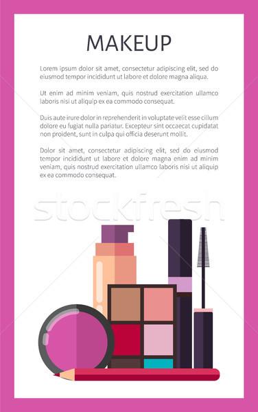 Smink elemek promóciós függőleges poszter bőr Stock fotó © robuart