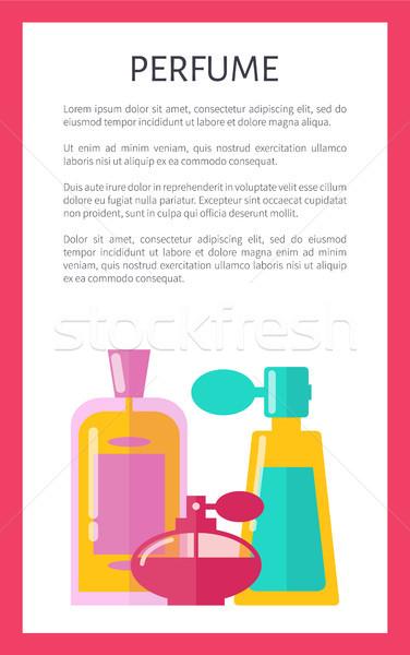 Parfüm model renk kart üç cam Stok fotoğraf © robuart