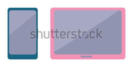Modern okostelefon elegáns szélesvásznú tabletta rózsaszín Stock fotó © robuart