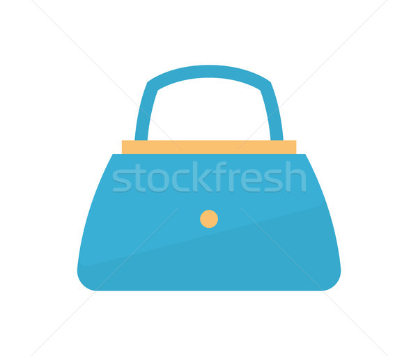 Womens Handbag Blue Fashion Vector Illustration Stock photo © robuart