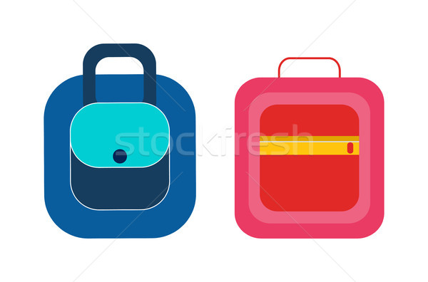 Female Handbags,Practical Briefcases Backpack Stock photo © robuart