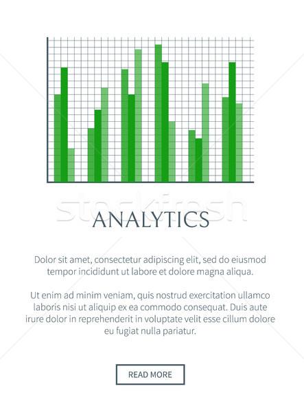 Analytics grafiek schaal net vector banner Stockfoto © robuart