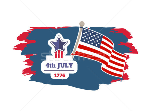 Cuarto día banner fecha año vacaciones Foto stock © robuart