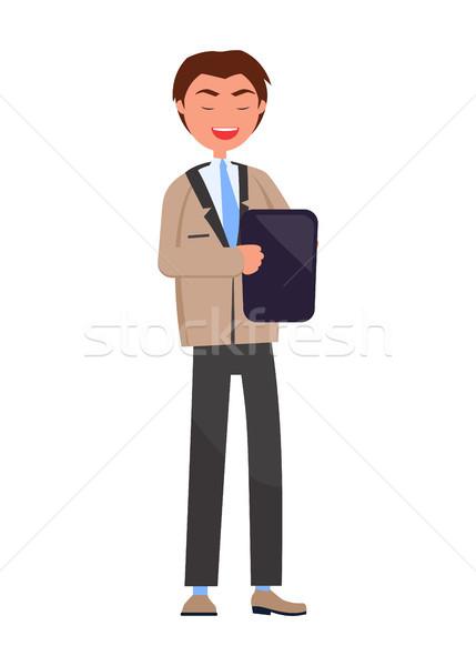 Wykonawczej kierownik odizolowany zawodowych pracodawca tabletka Zdjęcia stock © robuart