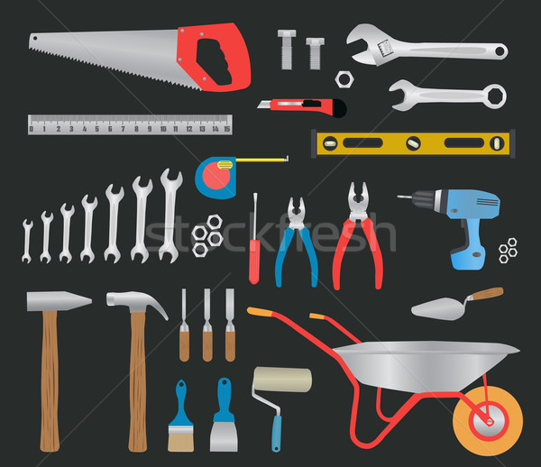 Modern hand tools. instruments collection Stock photo © robuart