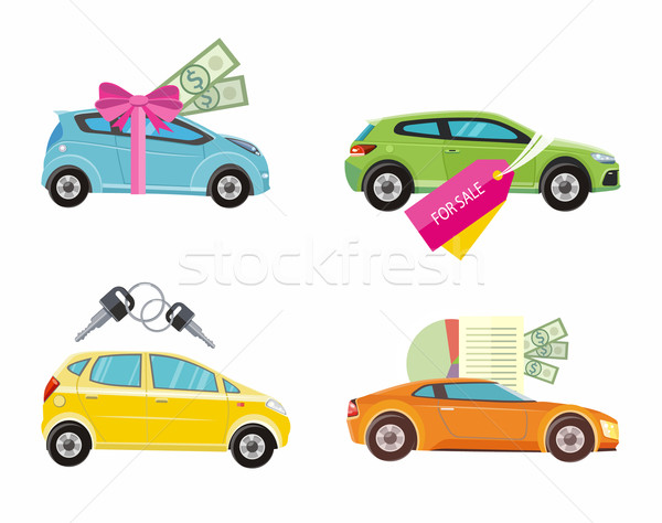 Buying car, rent and loan Stock photo © robuart