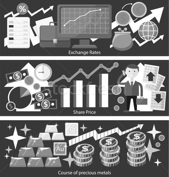 Concept Exchange Rates Flat Design Style Stock photo © robuart