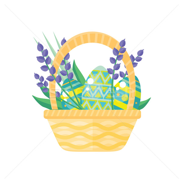 Happy Easter Holiday Card Design Flat Stock photo © robuart