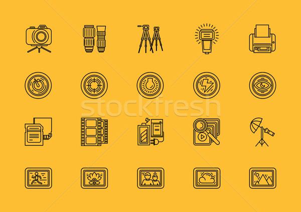 Stock photo: Elements of Photo Processing Equipment Items