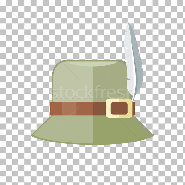 Hunter Hat Isolated on Checkered Background Stock photo © robuart
