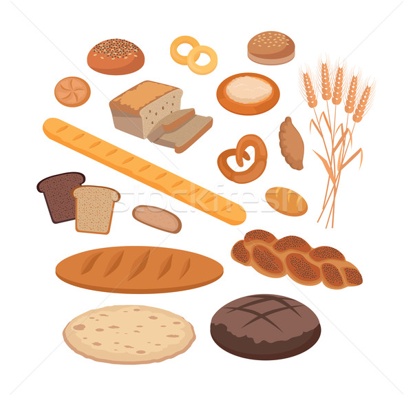 Bakery Products Set Flat Design Stock photo © robuart