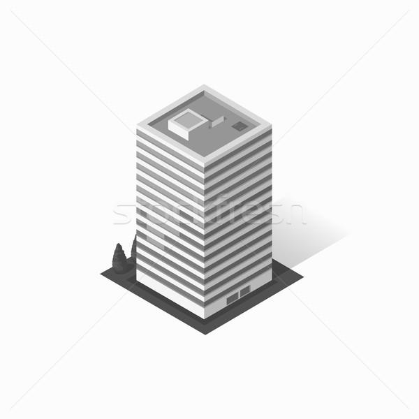 Foto stock: Arranha-céus · casa · edifício · ícone · arranha-céu · logotipo