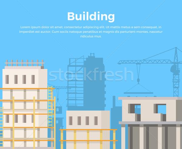 épület tájkép város építkezés kilátás városi Stock fotó © robuart