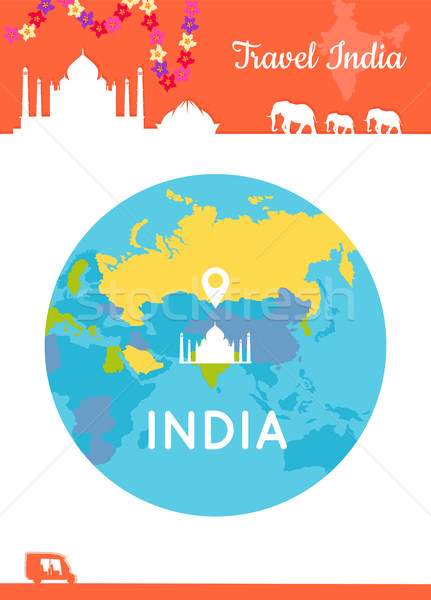Travel India Conceptual Poster Stock photo © robuart