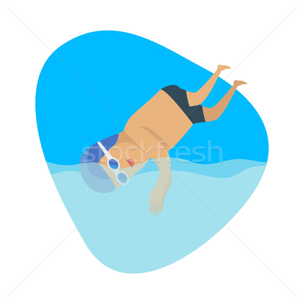 Búvárkodik sport sablon nyár játékok szalag Stock fotó © robuart