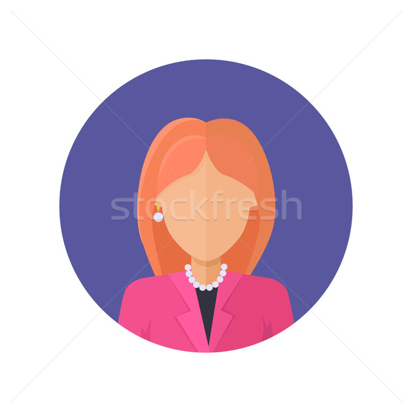 Stock photo: Woman Character Avatar Vector in Flat Design.