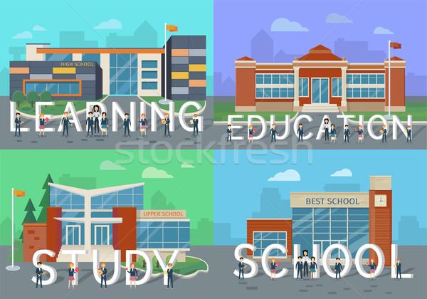 Aprendizaje educación estudio escuela personas cartas Foto stock © robuart