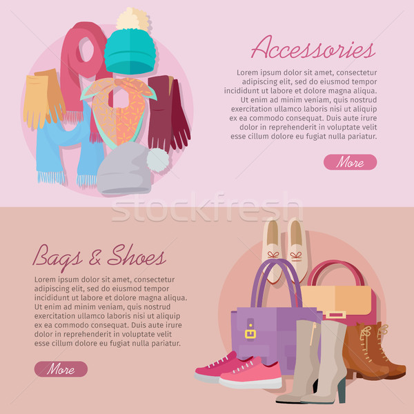 Women s bag, shoes and accessories. New collection Stock photo © robuart