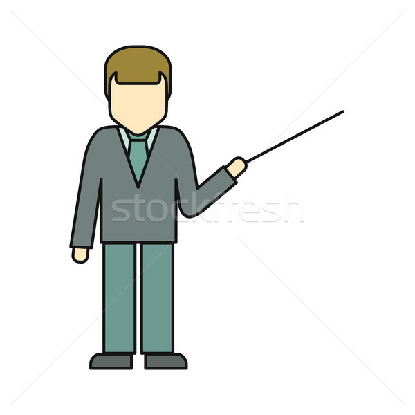 Private Man in Business Suit with Pointer Stock photo © robuart