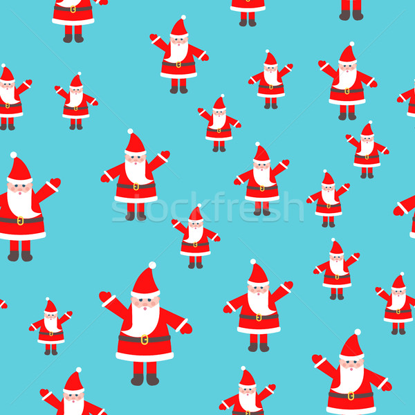 Santa Claus Toy with Raised Hand Seamless Pattern Stock photo © robuart