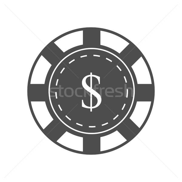 Foto stock: Jogos · de · azar · lasca · projeto · vetor · monocromático · preto