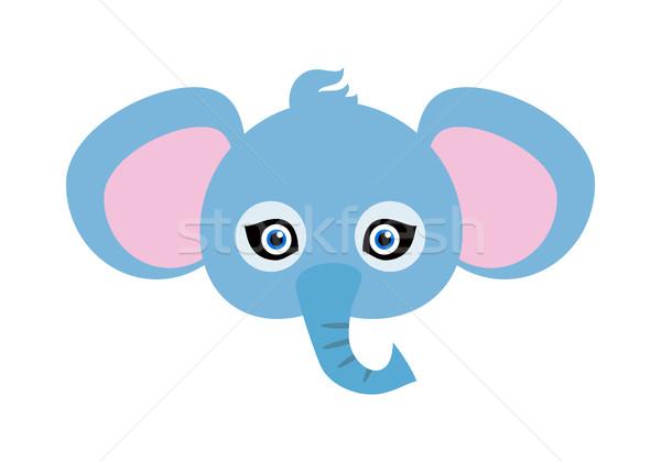 Elephant Carnival Mask. Big Animal with Large Ears Stock photo © robuart